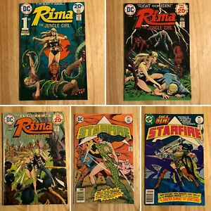 Rima-The-Jungle-Girl-1-3-1974-and-Starfire-3-amp-6-1977-DC-Comics