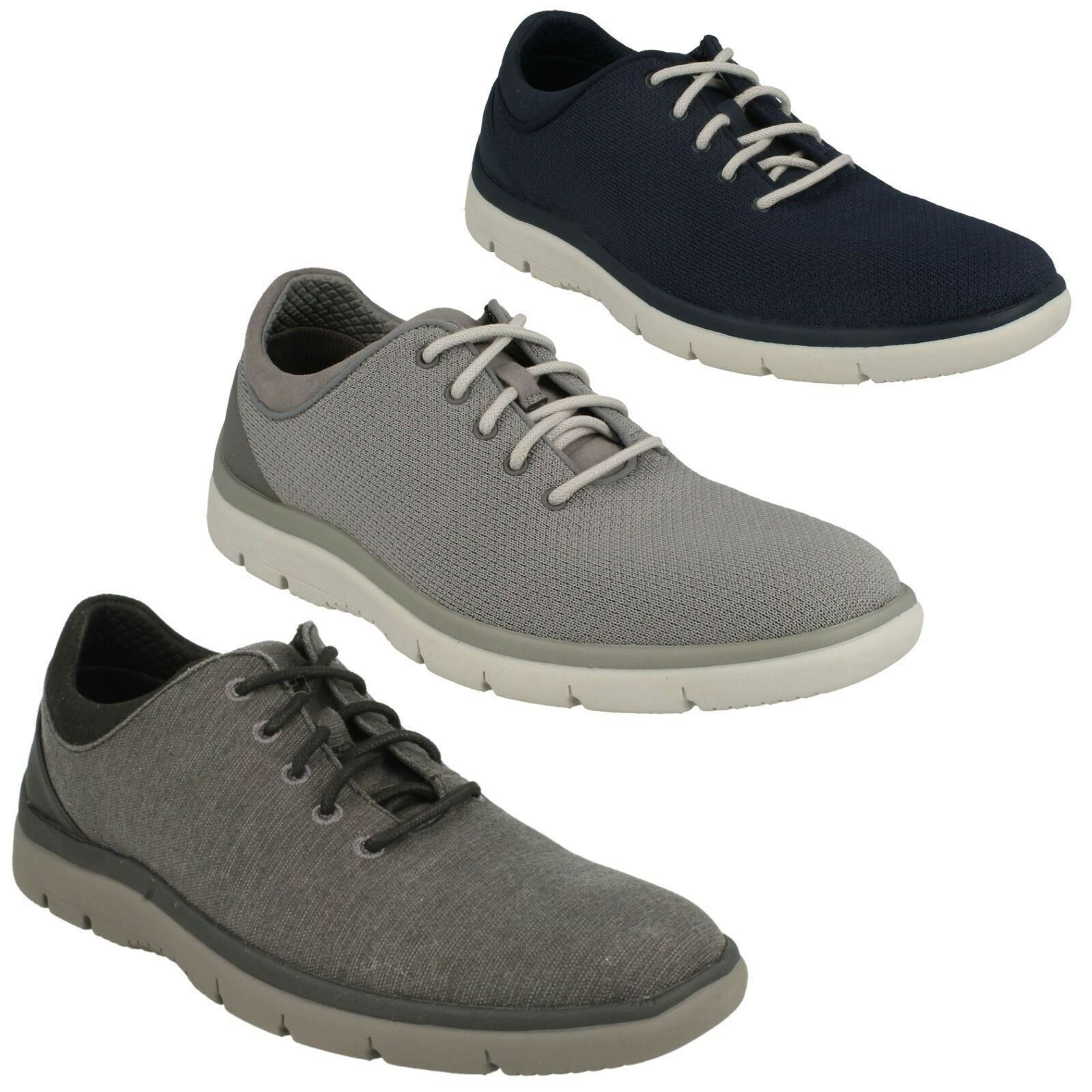 MENS CLARKS LACE UP CASUAL CLOUDSTEPPERS WALKING TRAINERS SHOES SIZE TUNSIL ACE