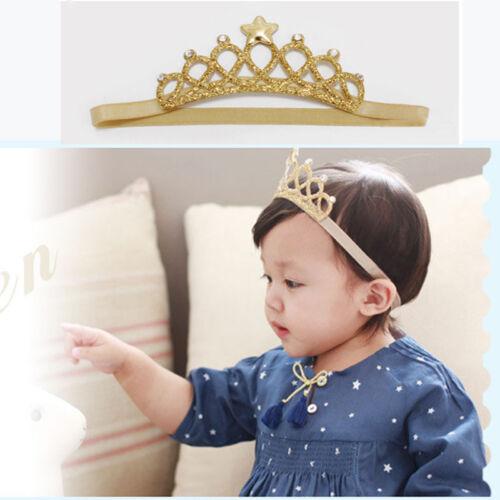 Girls Princess Headbands Baby Headwear Bow Crown Toddler Kids Hair Access US RR