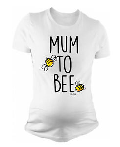 Ladies-MATERNITY-T-Shirt-Mum-To-Bee-Funny-Womens-PREGNANCY-Baby-Shower-Gift