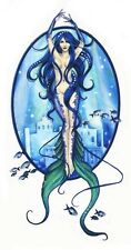 SEXY ATLANTIS BLUE OCEAN MERMAID WICCA FAIRY STICKER/VINYL DECAL Selena Fenech