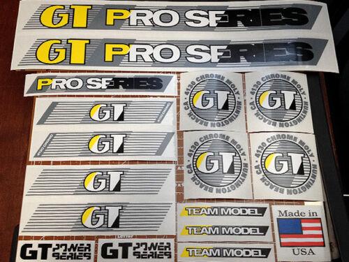 1987 custom restoration decal set on clear GREY 88 GT BMX Pro Series Team