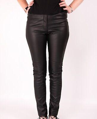 Fornitura Leather Look Leggings Pantaloni H E M I Leggins Nuova Linea Donna Neri Skinny Pu-mostra Il Titolo Originale