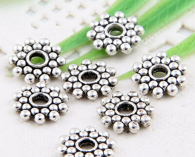 Wholesale 76/180Pcs Tibetan Silver/Gold (Lead-Free) Spacer Beads Findings 8mm