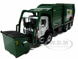 MACK-MR-WASTE-REFUSE-FRONT-LOADER-GARBAGE-TRUCK-1-34-W-BIN-BY-FIRST-GEAR-19-2924