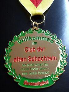 Orden Alte Schachtel Geburtstag 25 30 40 50 60 Medaille Abzeichen