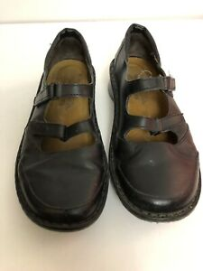 Noat-Black-Leather-Loafers-Shoes-Womens-EU-38-US-7-7-5-M-Comfort