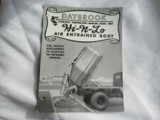 Daybrook Construction Equipment Hi N Lo Dump Tuck Body Brochure