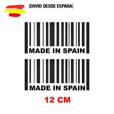 2 PEGATINAS CODIGO DE BARRAS MADE IN SPAIN VINILO STICKER JDM