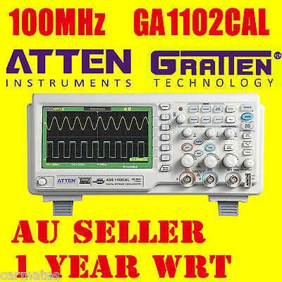 "ATTEN OSCILLOSCOPE GA1102CAL 100MHz 2Ch 7"" Large LCD Screen USB Multimeter AU"