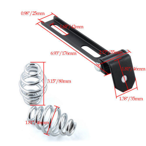"""Chrome Motorcycle SOLO Seat 3/"""" Springs Bracket Mounting Kit For Harley Chopper"""