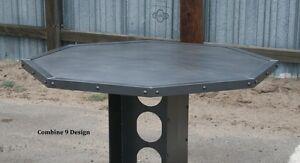 Image Is Loading Vintage Industrial Table Handmade Steel  Reclaimed Wood Available