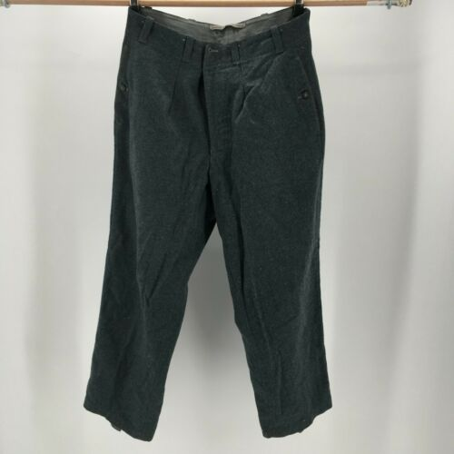 VTG 100% Wool EX Military USA Army Pants Early 190