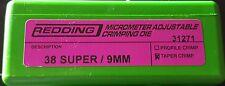 31271 REDDING MICRO-ADJUSTABLE PROFILE CRIMP DIE - 38 SUPER / 9MM - BRAND NEW