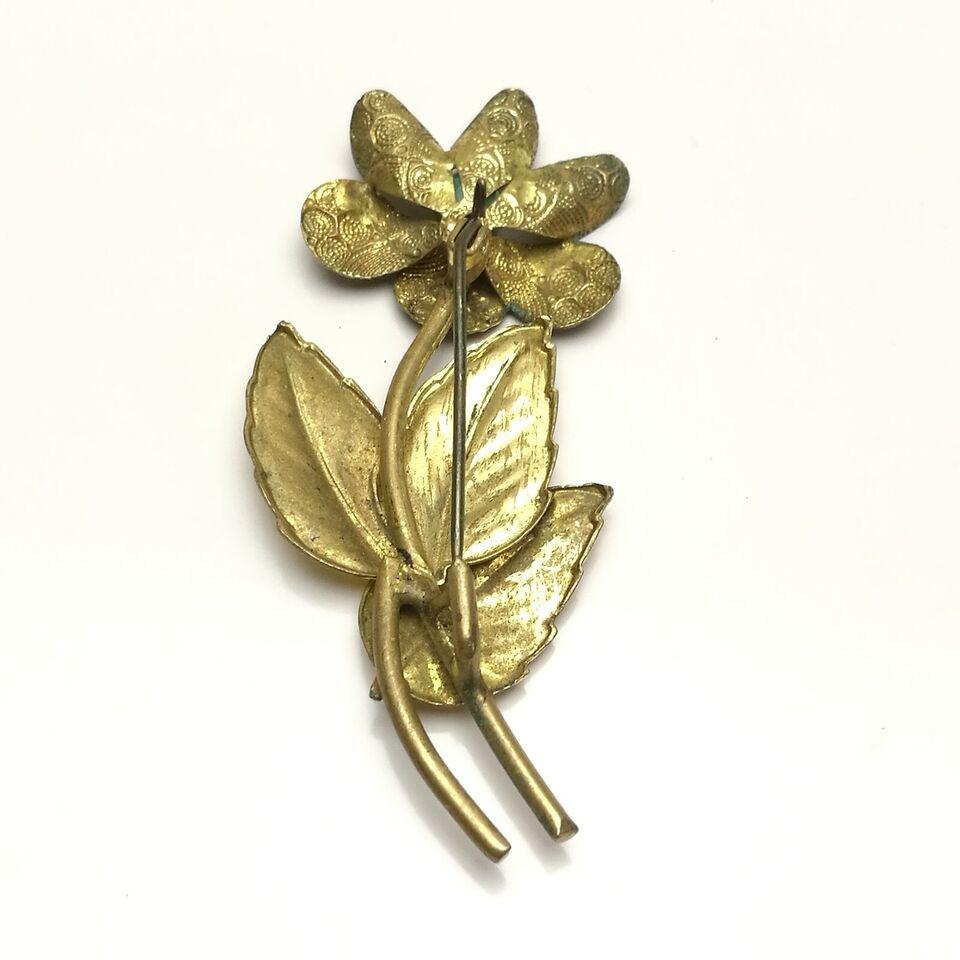 Broche, bijouteri, Vintage Retro bijouteri broche blomst