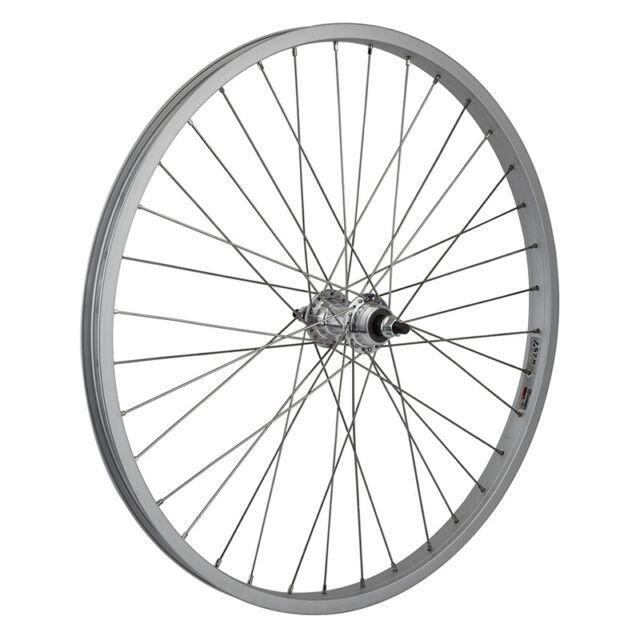 "PAIR 24X1.75/"" BICYCLE STEEL WHEELS HEAVY DUTY COASTER BRAKE REAR 36 SPOKE 12 GA"