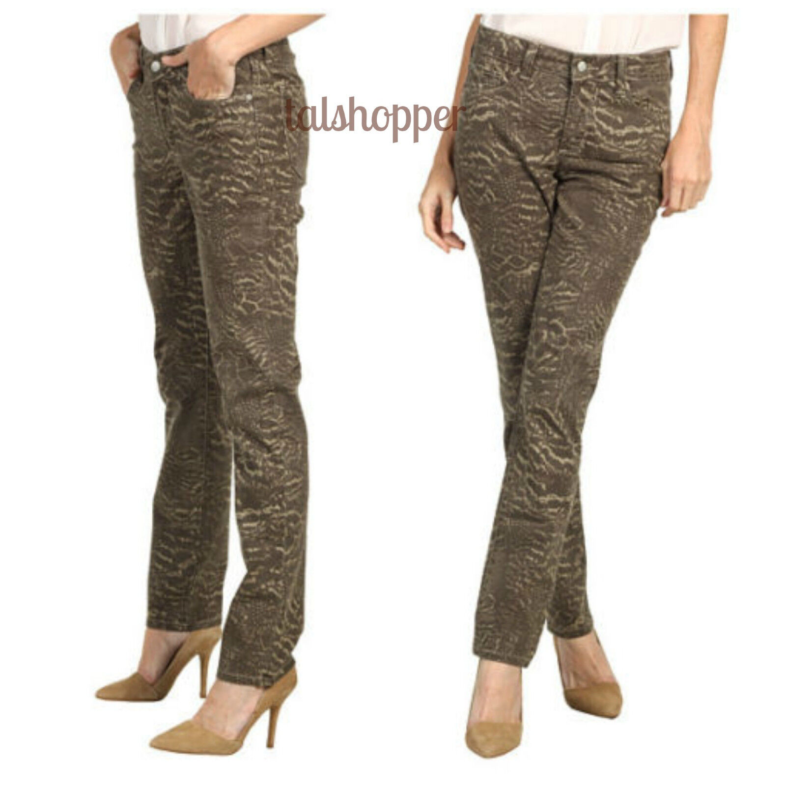 NYDJ Not Your Daughters Jeans Sheri Skinny Nature Camo Look Brindle NWT  130 4
