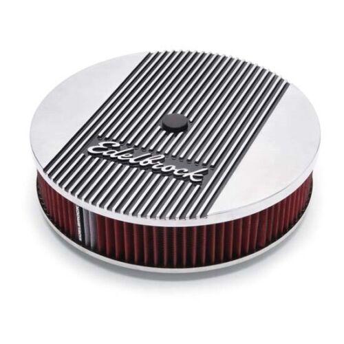 14 Inch Round Edelbrock 4266 Elite Series Aluminum Air Cleaner