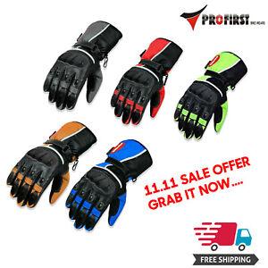 Winter-Leather-Thermal-Lined-Biker-Motorbike-Motorcycle-Waterproof-Gloves-Norman