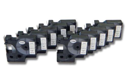 43913 Schriftband 9mm SCHWARZ-WEIß für DYMO D1