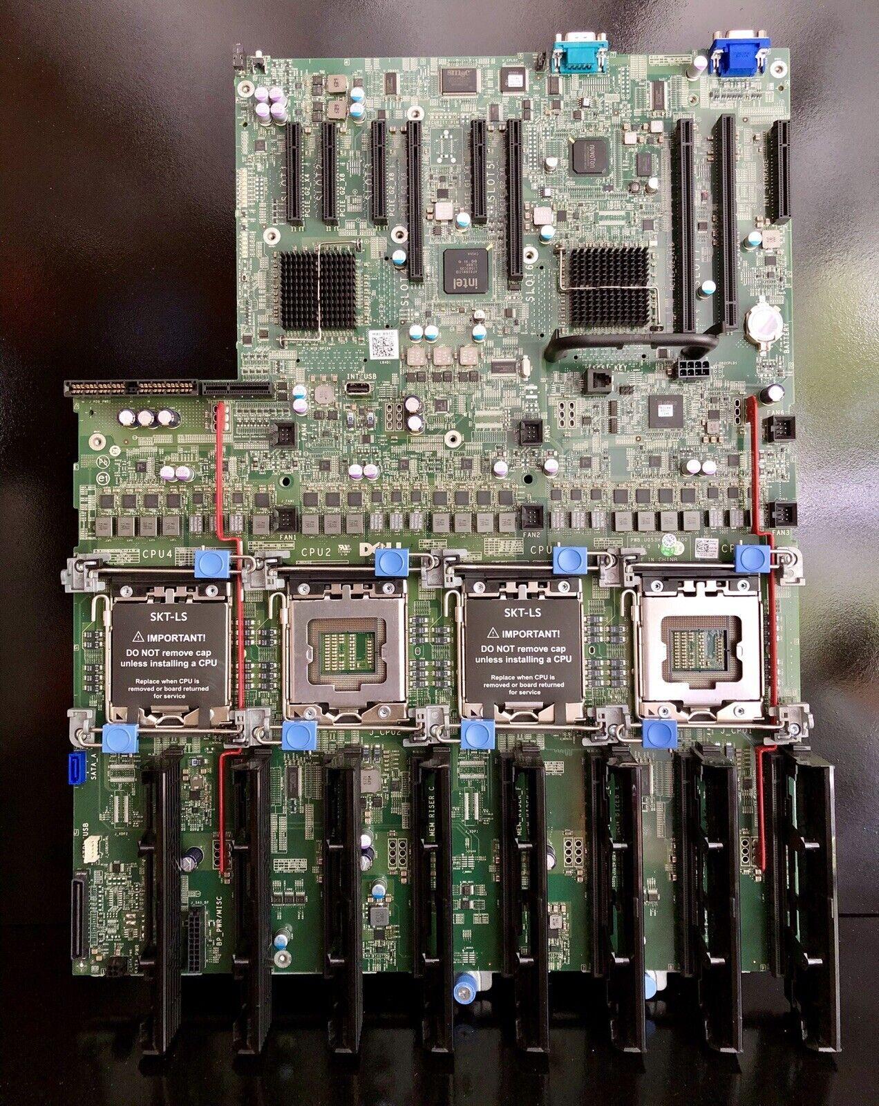 NO CPU NO RAM DELL POWEREDGE R910 4-CPU PROCESSOR MOTHERBOARD 0P658H