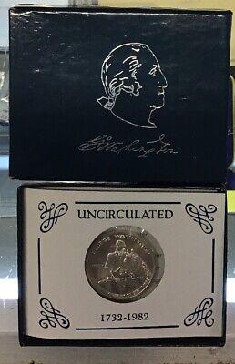 1982 George Washington Commemorative Half Dollar Uncirculated w//COA