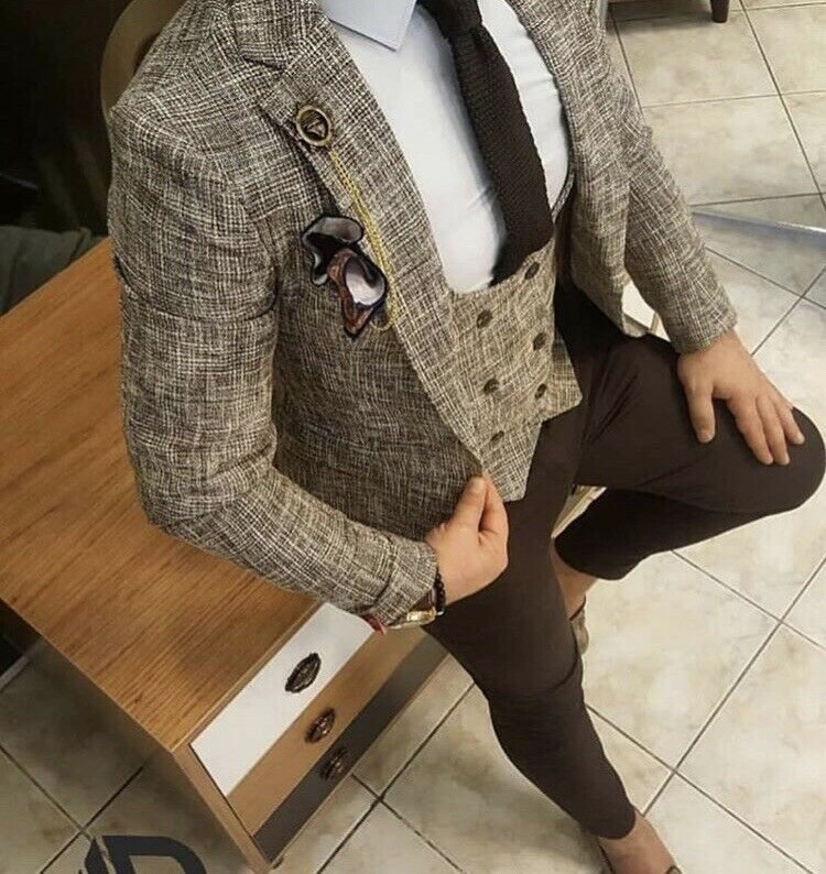 Mens Blazer and Double Breasted Waistcoat
