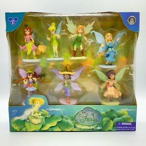 Disney-Parks-Fairies-Tinker-Bell-7-Piece-Figurine-Set-Cake-Toppers-PVC-Rare-NIB