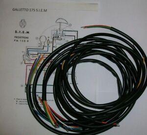 IMPIANTO-ELETTRICO-ELECTRICAL-WIRING-MOTO-GUZZI-GALLETTO-175-S-I-E-M
