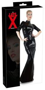 dress latex germany 4mm thick back zip black small 2x