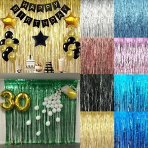 2M-3M-Self-Adhesive-Foil-Fringe-Tinsel-Shimmer-Curtain-Happy-Birthday-Party-Door