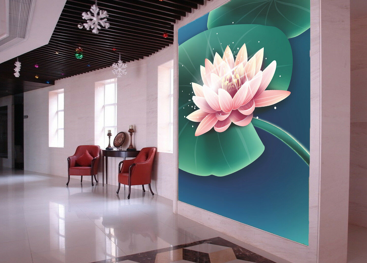 3D Teich Lotus Malerei 6 Tapete Tapeten Mauer Foto Familie Tapete Wandgemälde DE