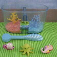 VTG Littlest Pet Shop 1994 Splashtime Aquarium Snail Seahorse Squid Magnet TOOL