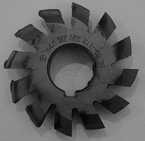 Set 8Pcs Module 4.5 PA20 Bore27 1#2#3#4#5#6#7#8# Involute Gear Cutters M4.5