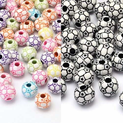 Mixed Soccer//Football Beads approx 12mm