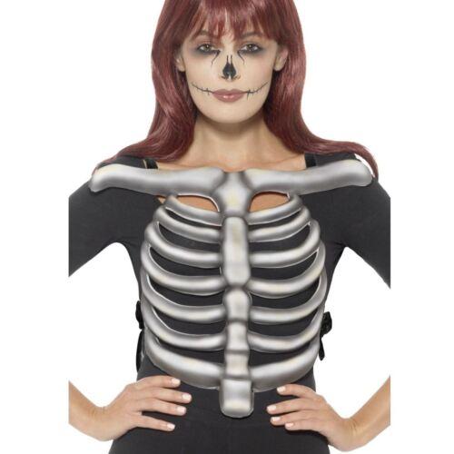 Gli adulti unisex scheletro gabbia toracica Ossa 3D EVA Top T Shirt Costume Di Halloween