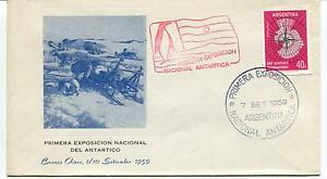1959 Primera Exposicion Nacional Antartica Buenos Aires Polar Antarctic Cover Calcul Minutieux Et BudgéTisation Stricte