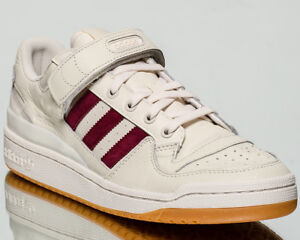 adidas Originals Forum Low men casual sneakers NEW chalk white burgundy CQ0997