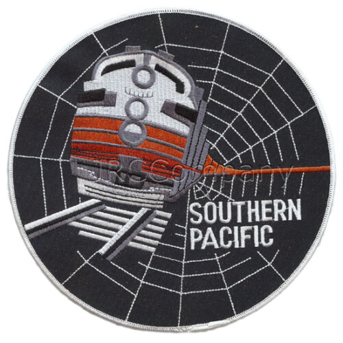 LARGE-SP Southern Pacific Black widow embroidered patch