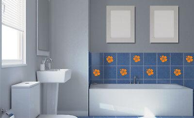 Badzubehör & -textilien Hibiskus Blumen Fliesen Aufkleber Fliesenaufkleber Fliesendekor Matt/glanz H1 Heimwerker