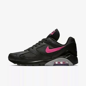 dd7464d2efd8 Details about Nike Men s Air Max 180 Shoes NEW AUTHENTIC Black Wolf Grey  Pink Blast AQ9974-001