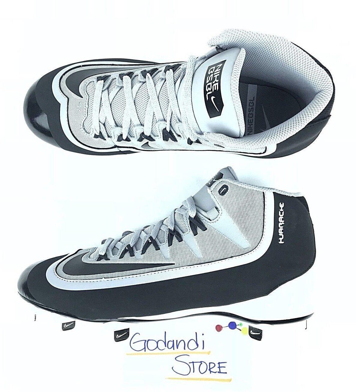 1f07ae23187e Nike Men Huarache 2k 2k 2k Filth Pro Mid Metal Baseball Cleats Sz 10.5 Gray  807128