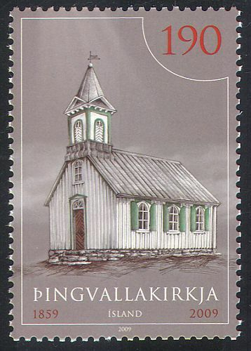 Iceland 2009 Thingvellir Church/Building/Architecture/Heritage 1v (n41413)