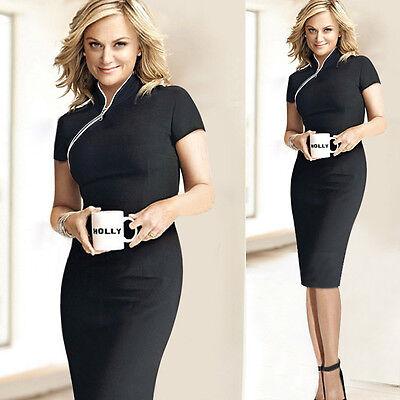 Women Formal Business Office Work Slim Bodycon Party Evening Midi Pencil Dress