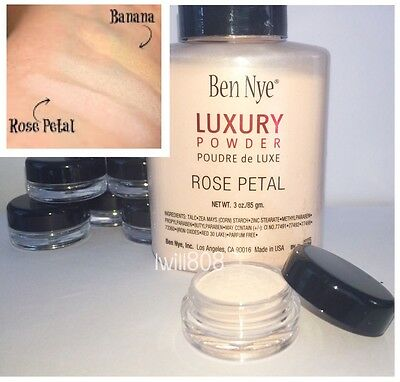 Ben Nye ROSE PETAL Powder Luxury Contour Highlight Makeup banana ⭐ 3g SAMPLE JAR