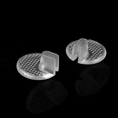 1Pair Silicone Gel Heel Cushion Protector Foot Care Shoe Insert Pad  insole HV