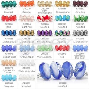 10pcs-14x14mm-Rondelle-Faceted-Loose-Crystal-European-Beads-Jewelry-Making-Hot