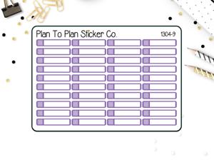 Planner Stickers. PURPLE 1304-9~~ Little Labels
