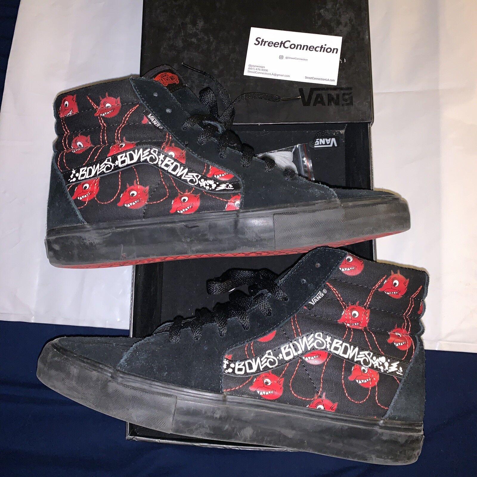 2007 WTAPS Devils Sk8-Hi Size 10.5 OG Box Black Red Supreme Vans Box Logo Old