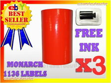 3 Sleeves Fluorescent Red Label For Monarch 1136 Pricing Gun 3 Sleeves24rolls